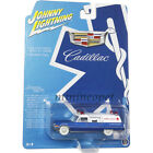 JOHNNY LIGHTNING JLSP099 1966 CADILLAC AMBULANCE 1 64 DIECAST BLUE WHITE Chase