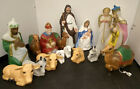 Vintage 16 Piece Blow Mold Nativity Set Outdoor Lighted