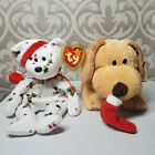 Ty Lot Beanie Baby 1998 Holiday Teddy Bear And Pluffies Goodies Dog Christmas