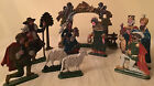 Kuhn Zinn Nativity pewter figurines complete set stable Germany vintage 11 pc