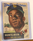 Top 10 Baseball Cards to Remember Monte Irvin 16