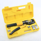 8Ton Hydraulic Wire Terminal Crimper Battery Cable Lug Crimping Tool w Dies