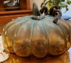 Beautiful Large Studio Art Glass Pumpkin Detailed and Heavy