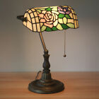 Tiffany style Table Lamp 16inch Glass Shade Reading Light Study Living Bed
