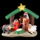 Pre lit Inflatable Nativity Holy Family Yard Decor Scene LED Self Inflate 6 ft
