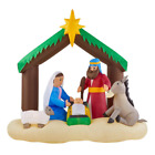 Inflatable Lighted Christmas Nativity Scene Self Inflating Led 65 Ft