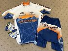 Cannondale Mountain Bike Team Medium Cycling Bicycle Jersey  Shorts Set + Glove