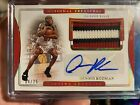 2019-20 National Treasures Dennis Rodman Game Used Patch Auto Autograph #04 25!