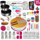360pc Cake Decorating Supplies Kit  Baking Set Turntable Fondant Tools Cups