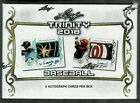 2018 LEAF TRINITY BASEBALL FACTORY SEALED HOBBY BOX 6 AUTOS SOTO ACUNA PATCHES +