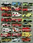 Huge Junk Lot 35 Fire Emergency Vehicles 164 Hot Wheels Matchbox Maisto