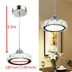 LED Pendant Modern Crystal Chandelier Glass Hanging Lamp Ceiling Light Fixture