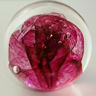 Art Glass Paperweight Rose Color GES Glass Eye Studio 96 1996 25 tall