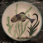 Rare Vintage Vallauris French Art Pottery Fish Dish Plate 98 Signed France 75