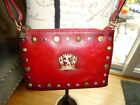 Pratesi Small Leather Crossbody Bag Red Studded Made in Italy NWT