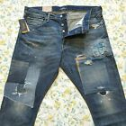 Polo Ralph Lauren Repaired Patchwork Slim Distressed Ripped Jeans Ltd Edition
