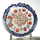 Antique Bohemian Concentric Millefiori Paperweight with Complex Canes