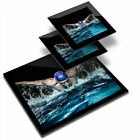 Glass Placemat  2x Coaster Swimming Pool Butterfly Stroke Swimmer 46344