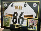 HINES WARD SIGNED JERSEY FRAMED UV GLASS W JSA COA STEELERS Autographed White