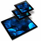 Glass Placemat  2x Coaster Blue Luminescent Jellyfish Water 21258