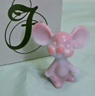 Fenton Blue Burmese Mouse Lovely Pink and Blue Color MIB NOS Ol Stock