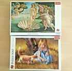 1000  500 Piece Jigsaw Puzzle Bundle Lot by Trefl NEW SEALED The Birth Of Venus