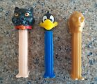 Lot of 3 Vintage Pez Dispensers -  C3PO, Daffy Duck and Halloween Cat