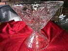 Vintage STAR OF DAVID Anchor Hocking 14 Punch Bowl  8 Stand EAPC THICK Glass