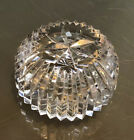 Vintage Rare Waterford Crystal Clear Cut Glass Round Dome Paperweight Ireland