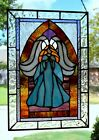 Arch Angel Stained Glass Window Panel