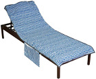 Runpilot Lounge Chair Cover Beach Towel With PillowThickened Pool Lounge Chair