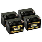 4 Pack YTX4L BS Rechargeable Battery Replaces ATV Quad Motorcycle Scooter Moped