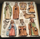 Vintage Homco Nativity 9 pieces complete set