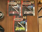 3 Matchbox Pierce Quantum Aerial Ladder Fire Truck NOS