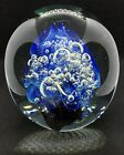 SHOWY GIANT 5LB SIGNED EICKHOLT GLASS PAPERWEIGHT FIRE  WATER CHANGING HUES 5