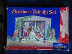 VINTAGE 1950S CHRISTMAS NATIVITY SET CUT OUT SCENES PIECES NOT USED IN BOX