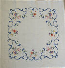 Vintage German Tableclith Embroidered Handmade