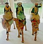LARGE RARE 3 wise men on camels 20 Christmas centerpieces or Nativity