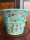 Very Rare Chinese Famille Rose Turquoise Glazed FLOWER JARDINIRES