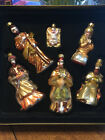Domain Hand Painted Blown Glass Nativity Christmas Ornaments Set of 6