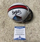 Jim Kelly Signed Autograph Auto Hof Hall Of Fame Bills Mini Helmet Beckett Coa