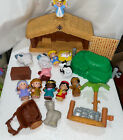 18 pc Fisher Price Little People Nativity Play Set Christmas Story Music Light