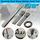 7 Set 5 8 10mm Plug Wedge Feathers Shims Quarry Rock Stone Splitter