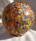 Colorful Antique End Of Day Czech Glass Ball Shade 6 X 6 1 2
