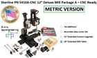 Sherline Pn 5410 Metric 12 Deluxe Mill Package A Cnc-ready 3 Add On Options