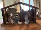 LLADRO PORCELAIN NATIVITY SET 3 Pieces + Stable LARGE Retired