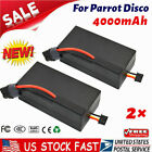 2 High Capacity Upgrade 4000mAh Parrot Disco Battery For Parrot Disco FPV Drone