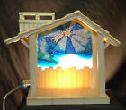 Nativity Stable Manger Creche w Glass Window FOR Hummel Goebel Children 2230