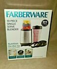Brand New Farberware 10 piece Personal Single Serve Blender Set And Accessories