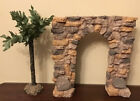 Fontanini Nativity arch wall village retired 8 1 4 h xtr tree